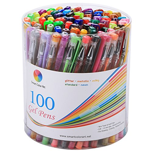 smart-color-art-100-colors-gel-pen-set-perfect-for-coloring-books