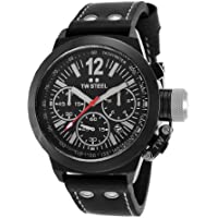 TW Steel CEO Canteen Chronograph Black Dial Black PVD Mens Watch