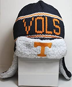 "Tennessee Volunteers 47 Brand ""Yeti"" Sherpa Navy Knit Trooper Premium Hat"