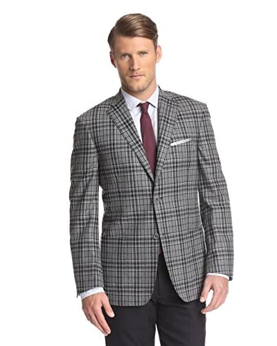 Ike Behar Men's Windowpane Sportcoat
