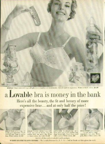 A Lovable bra is money in the bank at only half the price bra ad 195