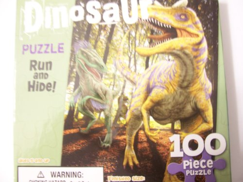 Dinosaur Puzzle ~ Run and Hide! 100 Piece Puzzle