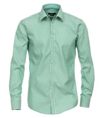 Gestreiftes Slim Fit Hemd mit extra langem Arm von Venti, Größe:42;Farbe:Grün
