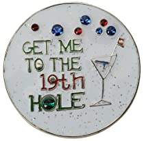 Get Me to the 19th Hole Crystal Ball Marker & Clip