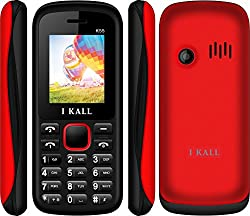 I Kall New K55 1.8 inch Dual Sim Mobile (Black & Red)