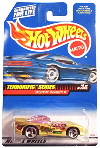 Mattel Hot Wheels 1999 1:64 Scale Terrorific Series Gold Splittin Image II Die Cast Car 4/4 #980 - 1