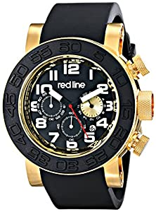 buy Red Line Men'S Rl-50052-Yg-01 Xlerator Analog Display Japanese Quartz Black Watch