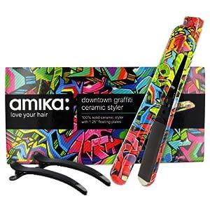 Amika Ceramic Styler Hair Straightener - Graffiti