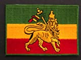 Rasta Flag Patch, 2.5 x 3.5 Iron On Embroidered Patch