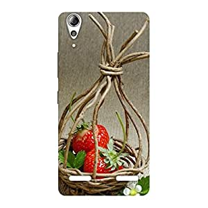 Delighted Straberry Basket Multicolor Back Case Cover for Lenovo A6000