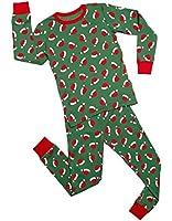 "Leveret ""Christmas"" 2 Piece Pajama Set 100% Cotton Variety of Styles (6-14)"