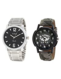 Relish Analog Round Casual Wear Watches For Men Combo - B01ANCDP9C