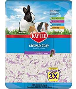 Kaytee Clean and Cozy Bedding, Lavender, 1000-Cubic-Inch