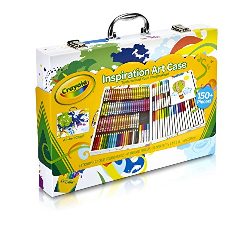 Crayola; Inspiration Art Case; Art Tools; 140 Pieces; Crayons; Colored Pencils; Washable Markers; Paper; Portable Storage