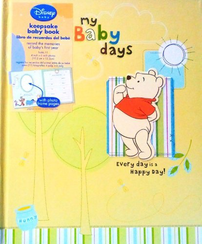 "Disney Winnie The Pooh ""My Baby days Every day is a Happy Day!"" Baby Memory Book for Baby's first Year - 1"