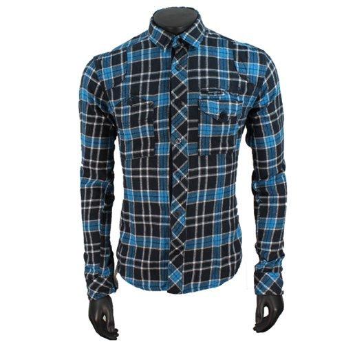 Jack & Jones -  Camicia Casual  - A quadri - Classico  - Maniche lunghe  - Uomo multicolore Large