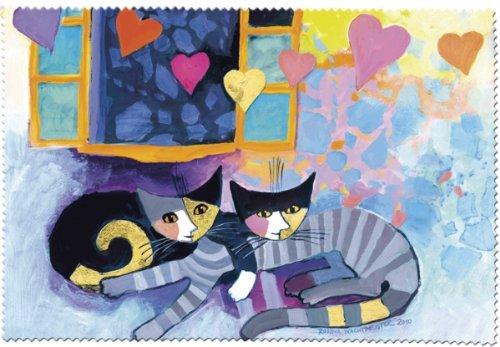 Fridolin 18863Rosina Wachtmeister Flying Hearts panno di pulizia per occhiali mussola Multicolore 18x 12,5x 1cm