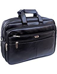 "Stylish 16"" Faux Leather Fully Expandable Laptop Sleeve Messenger Sling Office Bag With Shoulder Strap By-Widnes"