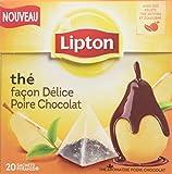 Lipton Thé parfumé façon delice poire chocolat 20 sachets - Lot de 5