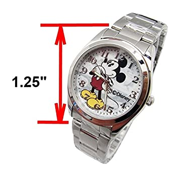 "Disney Unisex Watch Mickey Mouse ""Vintage"". Analog Large Display. Glow In The Dark Hands."
