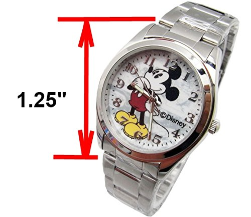 "Disney Unisex Watch Mickey Mouse ""Vintage"". Analog Large Display. Glow In The Dark Hands. 2"