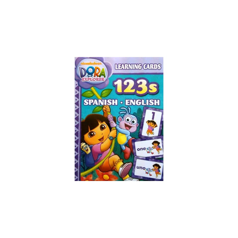 Dora Spanish English Numbers 123s Learning Flash Cards on