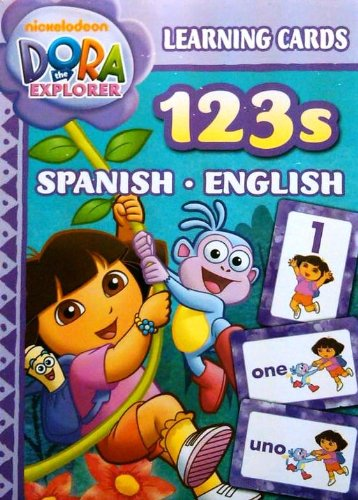 Dora Spanish English Numbers 123's Learning Flash Cards