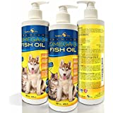 Best Liquid Omega 3 Fish Oil for Dogs and Cats ★ Pharmaceutical Human Grade ★ 100% Pure and Natural Supplements ★ No Additives ★ Wild Caught from the Nordic Icy Cold Waters of Iceland ★ Higher Levels of DHA & EPA than Alaskan Salmon Oil ★ No Overwhelming Fish Scent ★ 100% Satisfaction Guaranteed!