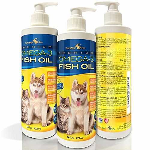 Premium Liquid Omega-3 Fish Oil for Dogs and Cats - All-Natural Human Grade Food Supplement - Wild Caught from the Nordic Waters of Iceland - Higher EPA, DHA than Alaskan Salmon Oil (32 Fl. Oz.) (Nordic Omega Dogs compare prices)