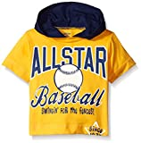 Gerber Graduates Boys Hooded Short Sleeve T-Shirt, Baseball, 24 Months