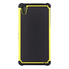 buy Xperia Z2 Case, Sony Xperia Z2 Case,[Flybrid]Rugged+Dual Layer Protective Shock Proof Defender Heavy Duty Dual Case Cover For Sony Xperia Z2 Case (Yellow)