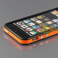 i-Beans【全43色】iPhone5 用バンパー ソフト+ハード アイフォン5 バンパーケース ブラック+オレンジ Bumper Case for iPhone 5(7876-38)