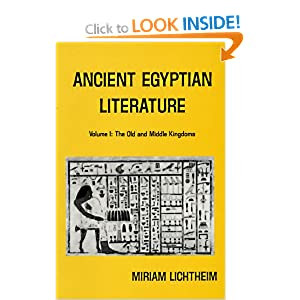 Ancient Egyptian Literature: The Old and Middle Kingdoms v. 1: A Book of Readings (Near Eastern Center, UCLA)