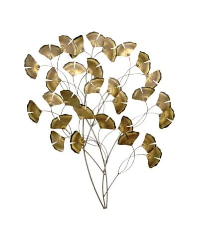 """C'Jere by Artisan House """"Gingko Tree Standard"""" Stainless Steel Wall Sculpture"""