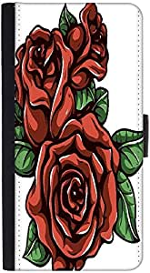 Snoogg Floral Vector Element Graphic Snap On Hard Back Leather + Pc Flip Cove...