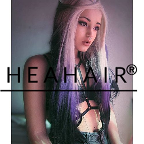 heahairr-sexy-rainbow-triple-blonde-purple-black-body-wave-handtied-synthetic-lace-front-wig-for-wom