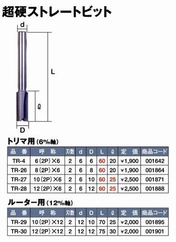 Super 超硬ストレートビット 12(2P)×12  TR-30