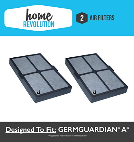 2 GermGuardian A Home Revolution Brand Replacement Filter; Fits Table Top Air Cleaning System AC4010, Compare to Part # FLT4010