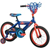 Huffy Bicycle Company Number 21965 Marvel Spider-Man Bike, Metallic Blue/Web Red, 16-Inch