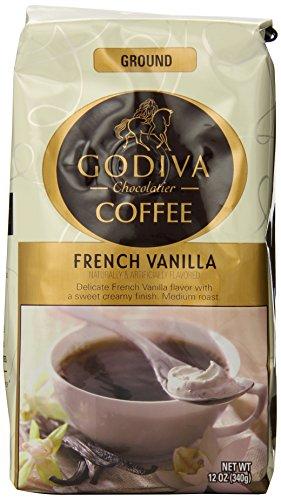 GODIVA歌帝梵法式香草口味咖啡, 12盎司 (2袋)