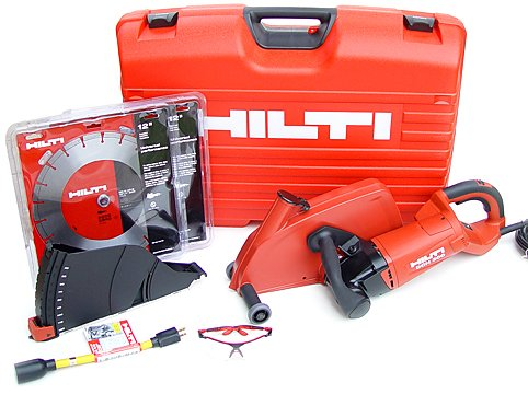 Hilti 03482164 Dch 300 12-Inch Electric Diamond Cutter Up Starter Professional Package With Blades And An Impact Resistant Case