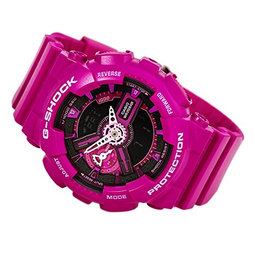 Casio G-Shock Pink and Black Dial Resin Quartz Ladies Watch GMAS110MP-4A3
