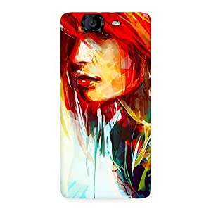 Enticing Art Girl Beauty Multicolor Back Case Cover for Canvas Knight A350