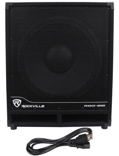 "Rockville Rbg18S 18"" 2000 Watt Active Powered Pa Subwoofer With Digital Signal Processor Built In"