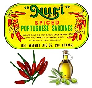 Nuri Portugese Sardines Spicy In Olive Oil 90g Each Pack Of 4 by Nuri