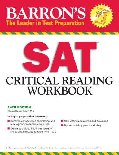 M.A. Sharon Weiner Green - Barron's SAT Critical Reading Workbook