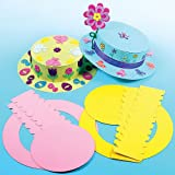 Coloured Easter Bonnet Kits for Kids Crafts at Easter (Pack of 3)
