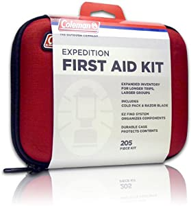 Coleman Expedition First Aid Kit (205-Piece), Red by Coleman