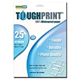 Memory-Map Toughprint Waterproof Paper - Inkjet - 25 A4 Sheetsby Memory-Map