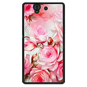 Jugaaduu Floral Pattern Back Cover Case For Sony Xperia Z